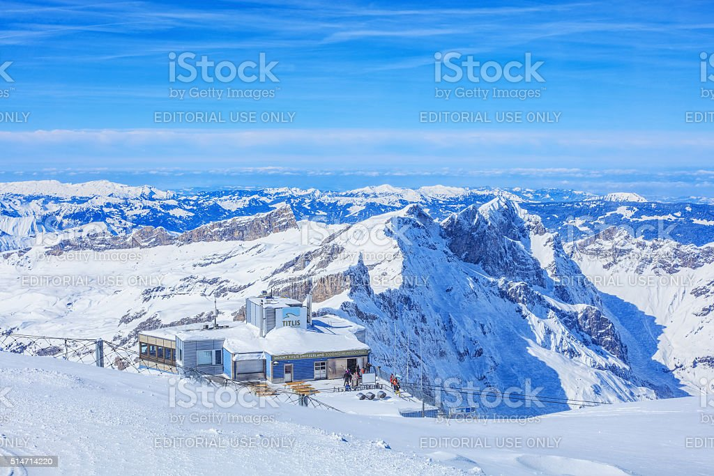 View on Mt. Titlis stock photo