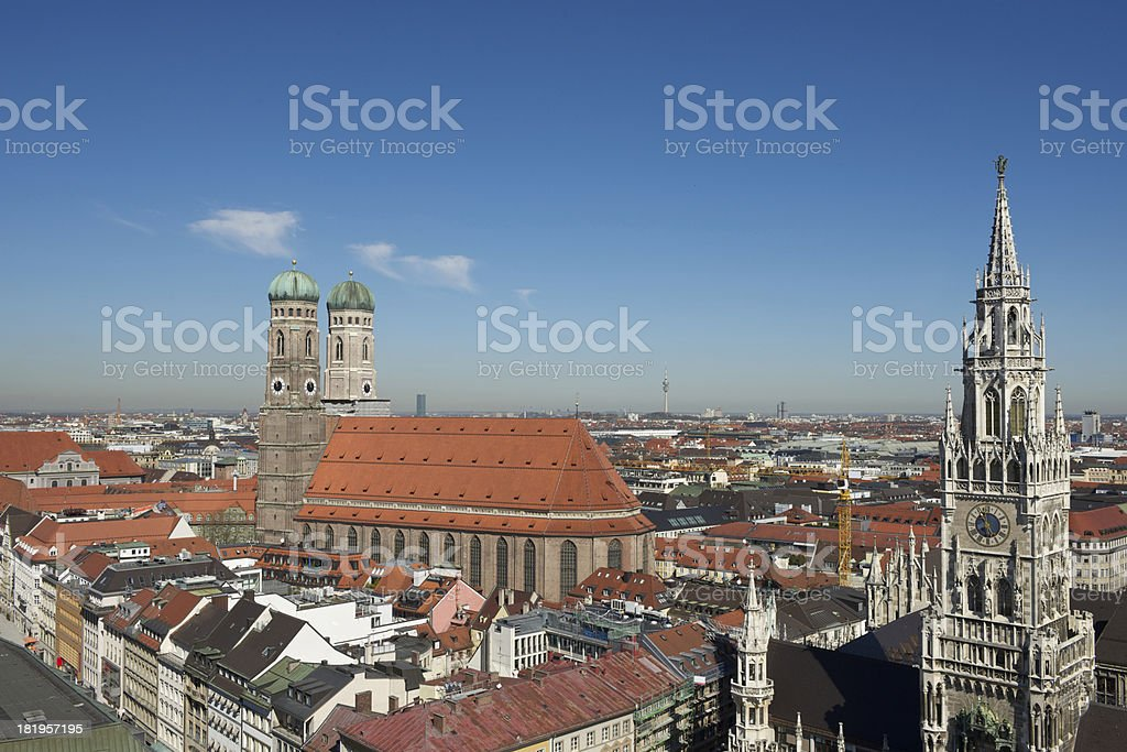 View on Munich royalty-free stock photo