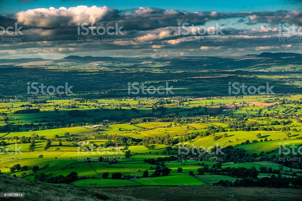 View on Norh East From Pendle Hill stock photo