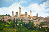 View on old town of San Giminiano (Tuscany, Italy).