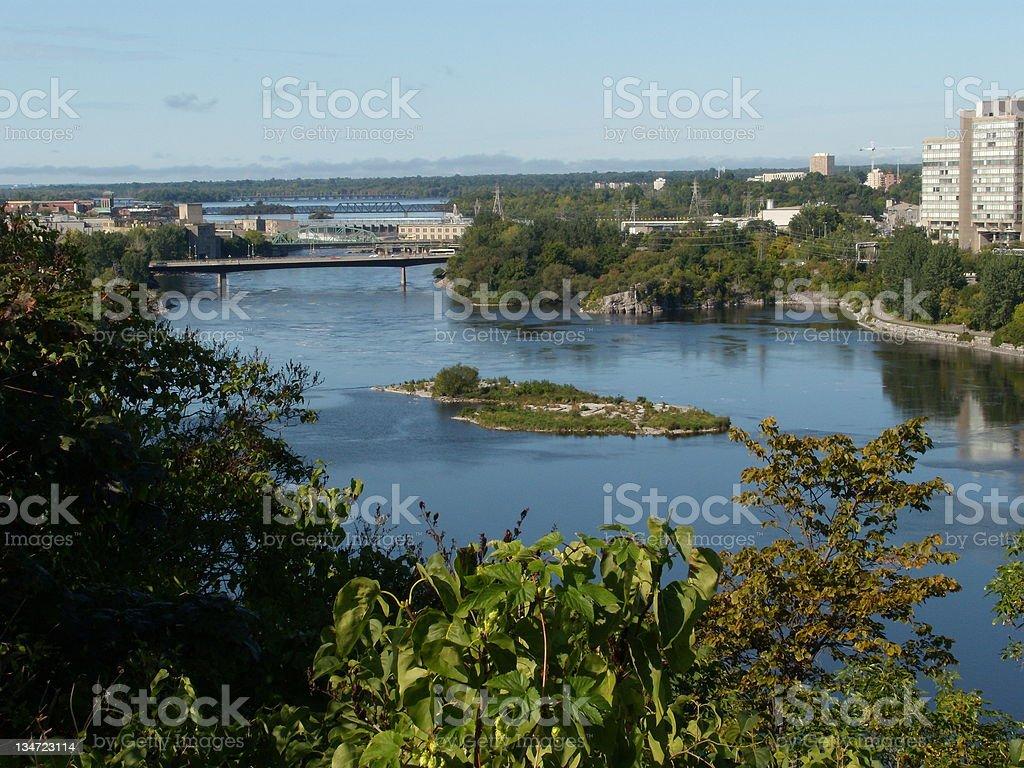 View on Ottawa river royalty-free stock photo
