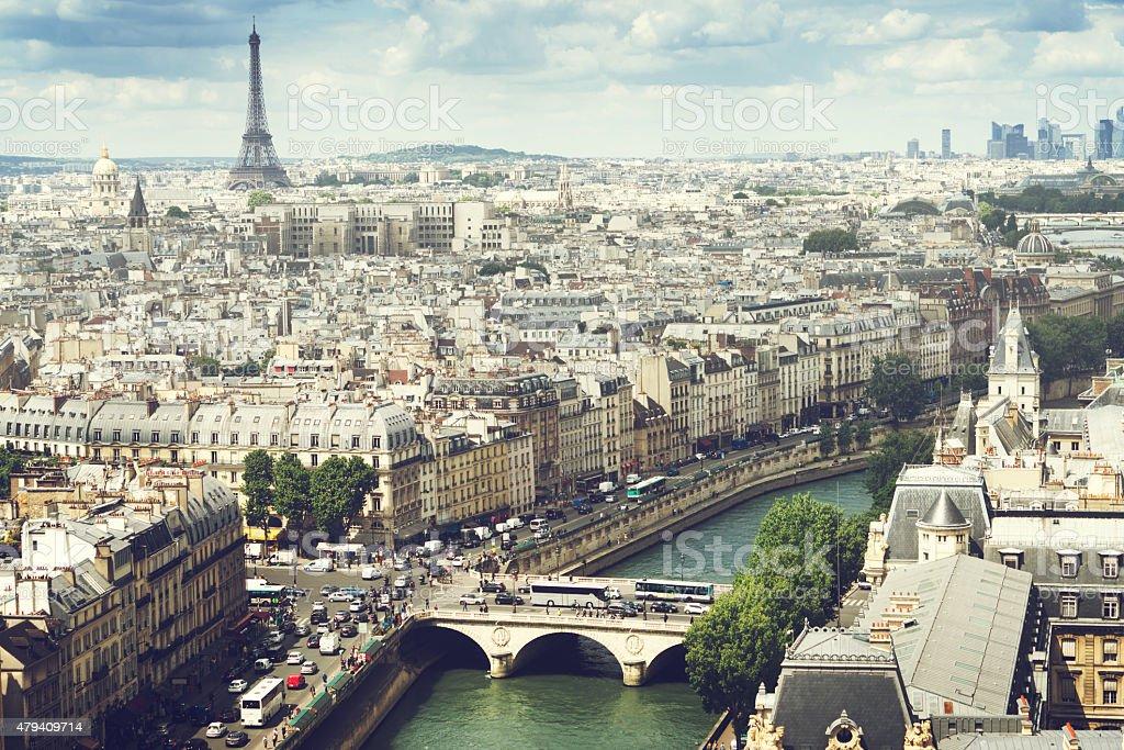 View on  Paris, France stock photo
