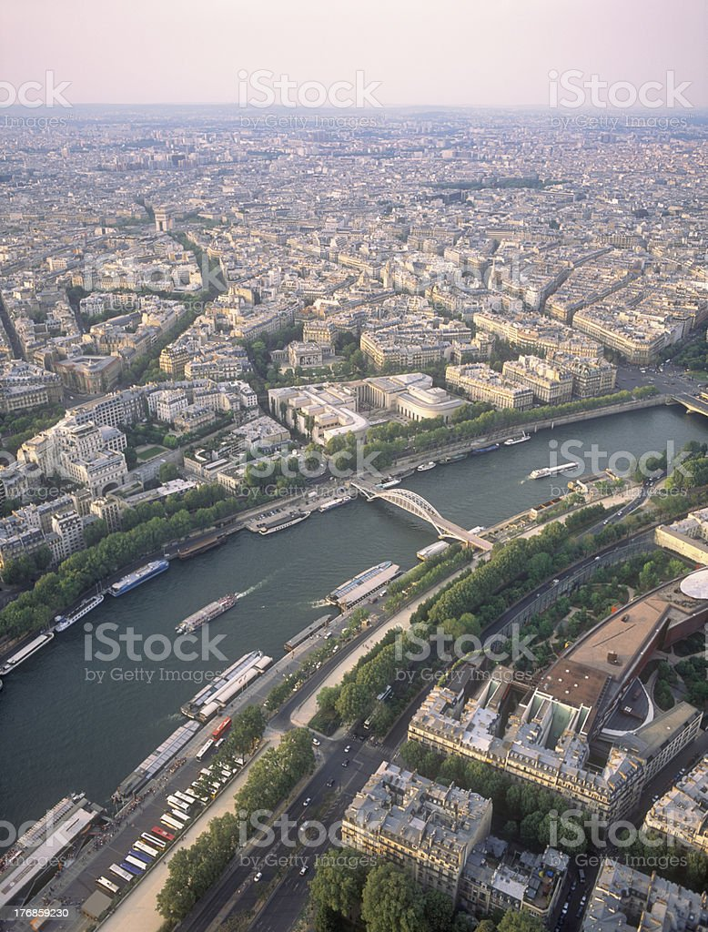 View on Paris from the Eiffel Tower. royalty-free stock photo
