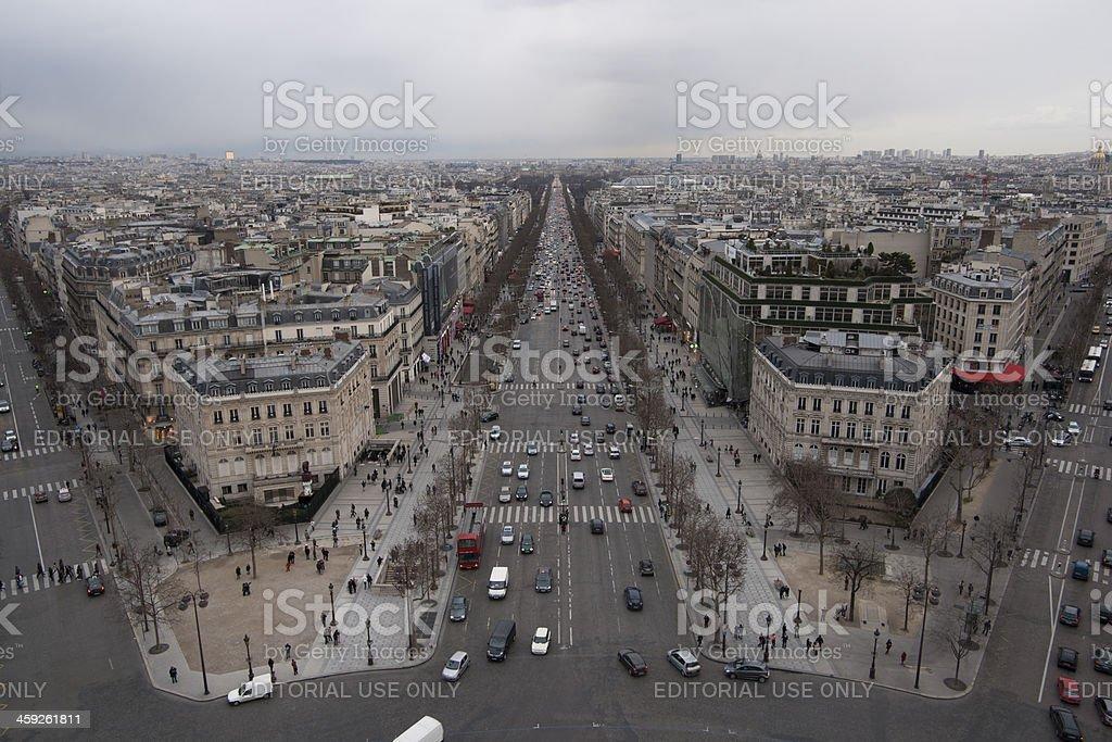 View on Paris royalty-free stock photo