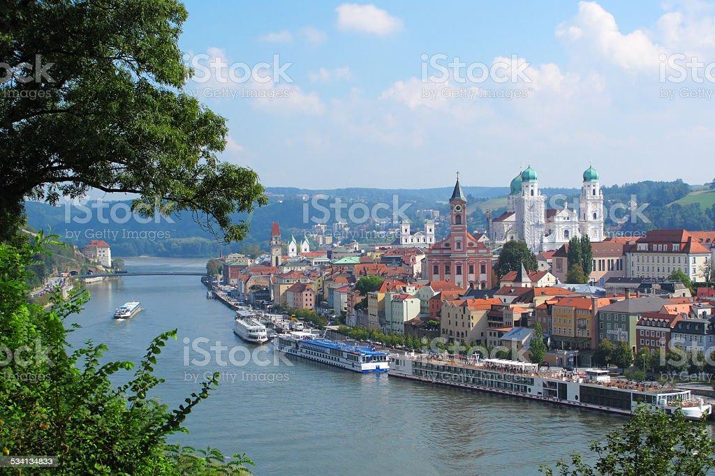 View on Passau stock photo