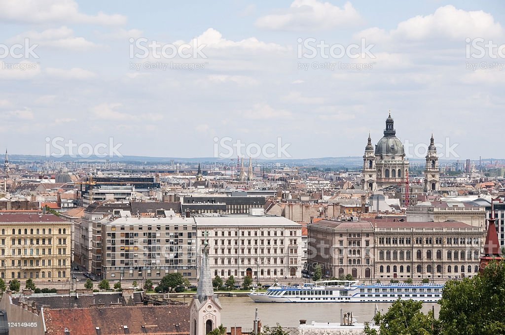 View on Pest, Budapest, Hungary stock photo