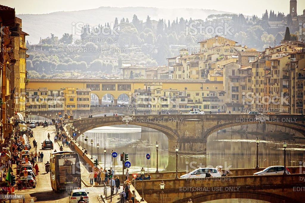 View on Ponte Vecchio, Firenze, Italy stock photo