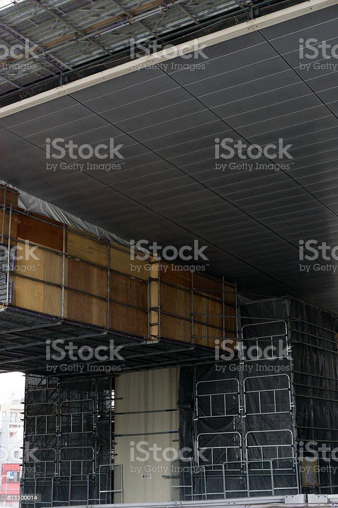 View on repeir work of Metropolitan Expressway, Tokyo, Japan 3 stock photo