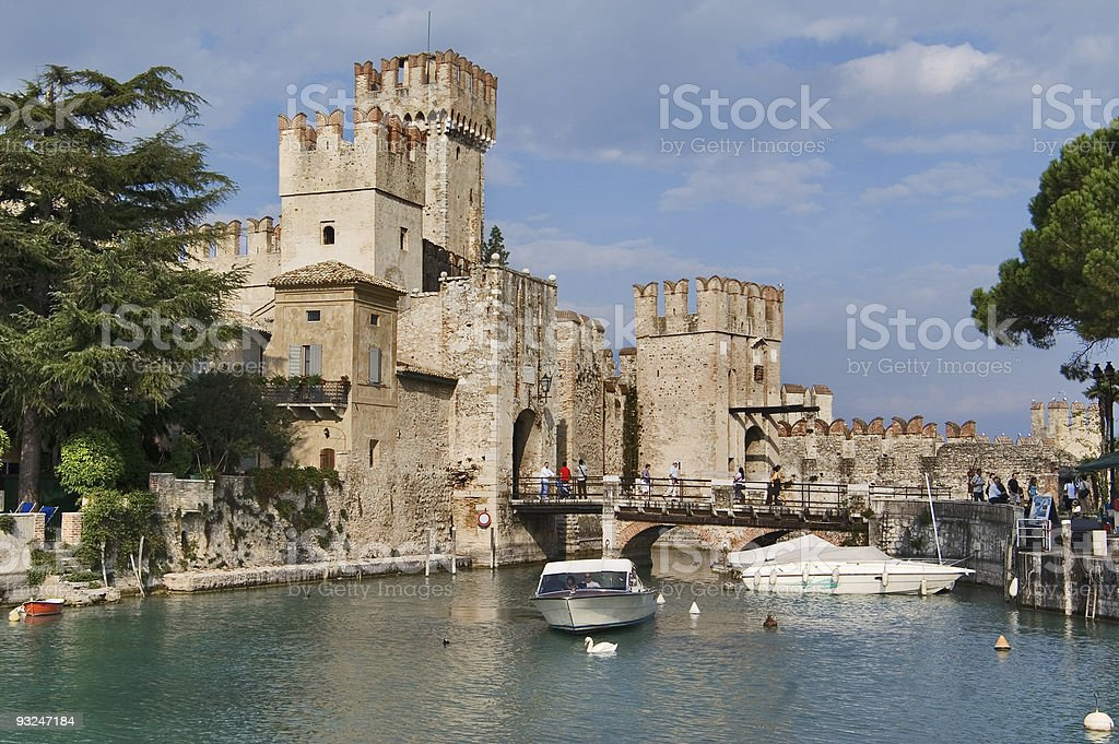 View on Rocca Scaligieri, Sirmione, Italy stock photo