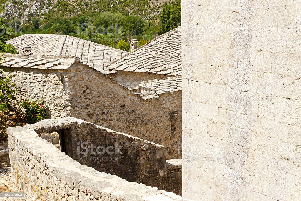 View on roofs - Pocitelj royalty-free stock photo