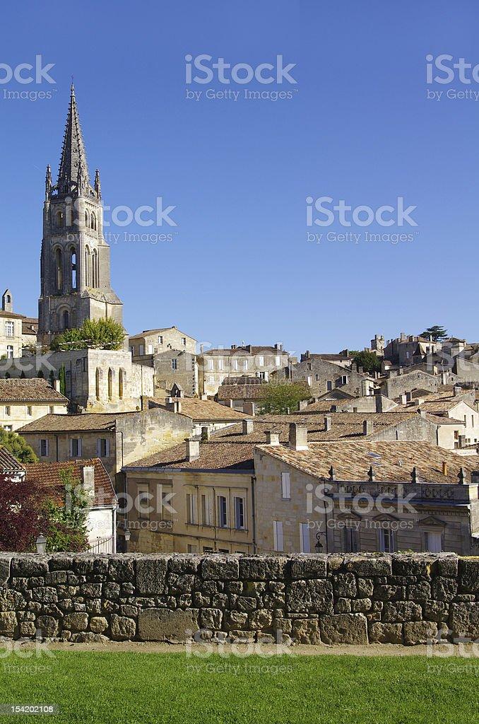 View on Saint Emilion village stock photo