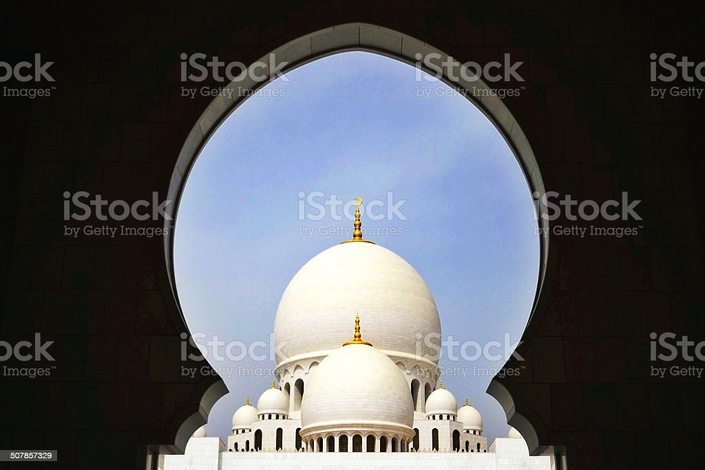 View on Sheikh Zayed Mosque stock photo