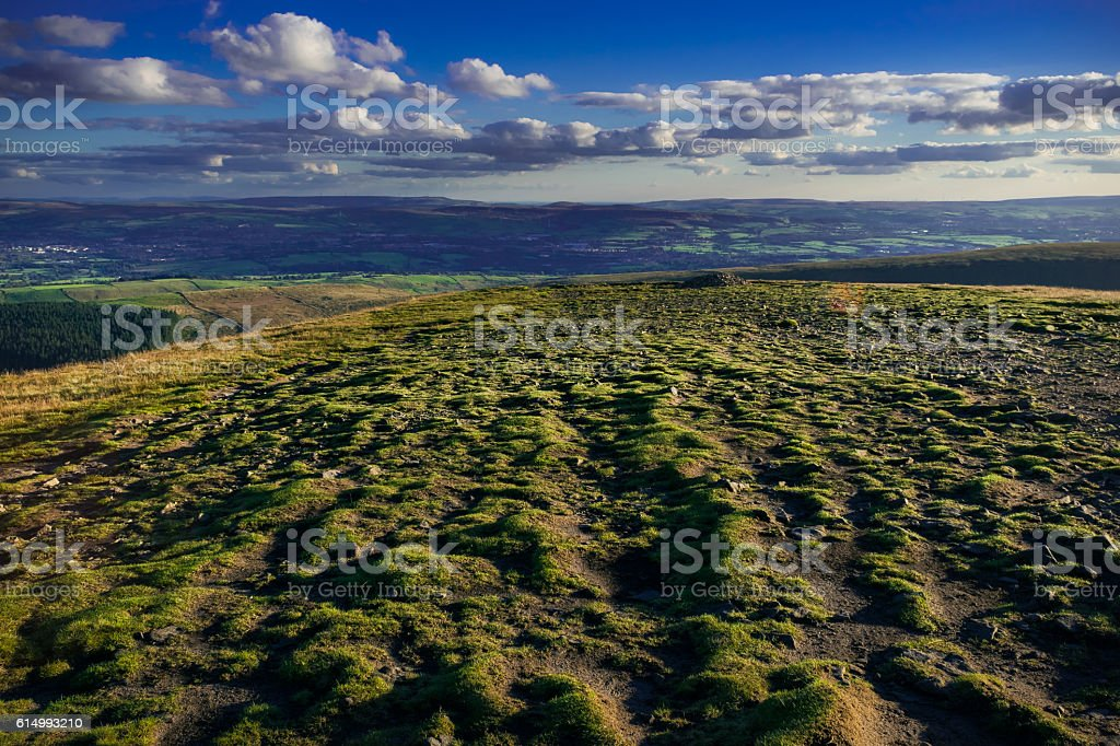 View on South West From Pendle Hill stock photo