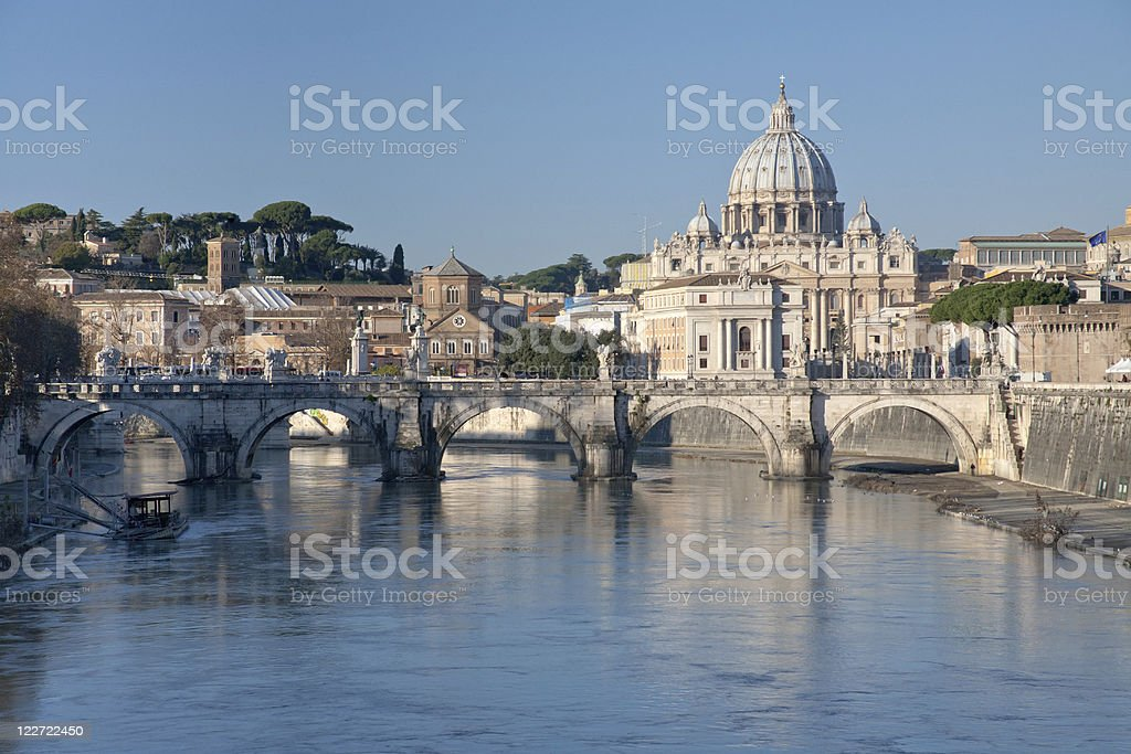 view on St Peter Basilica stock photo
