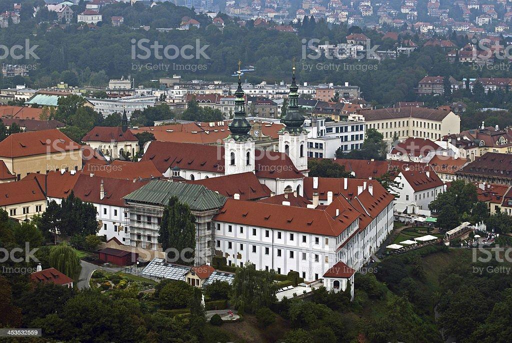 View on Strahov monastery stock photo