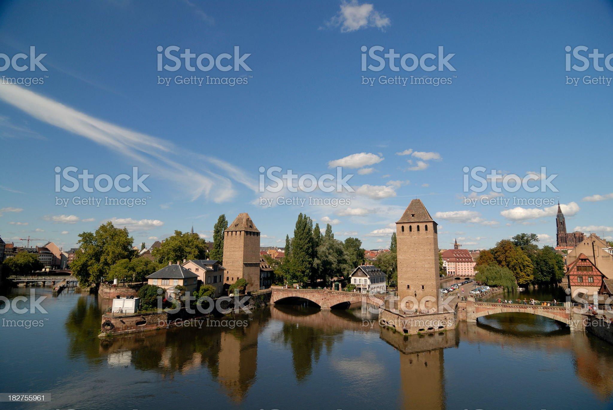 View on Strasbourg royalty-free stock photo
