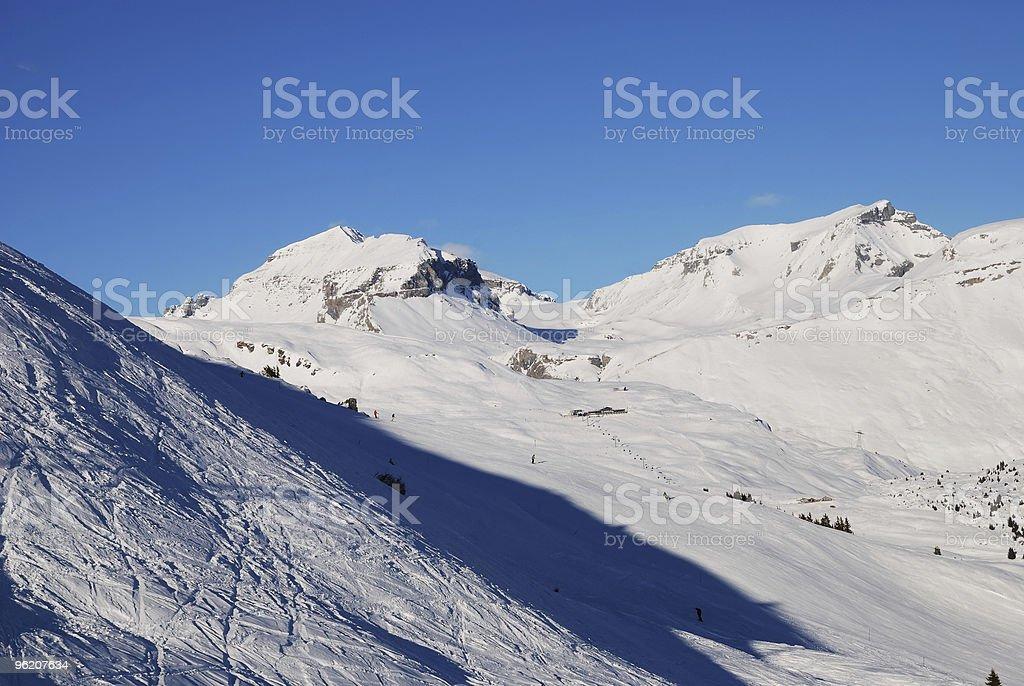 Ver em Alpes suíços foto de stock royalty-free