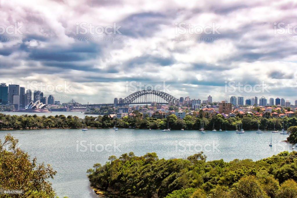 View on Sydney Harbor Bridge, Australia stock photo