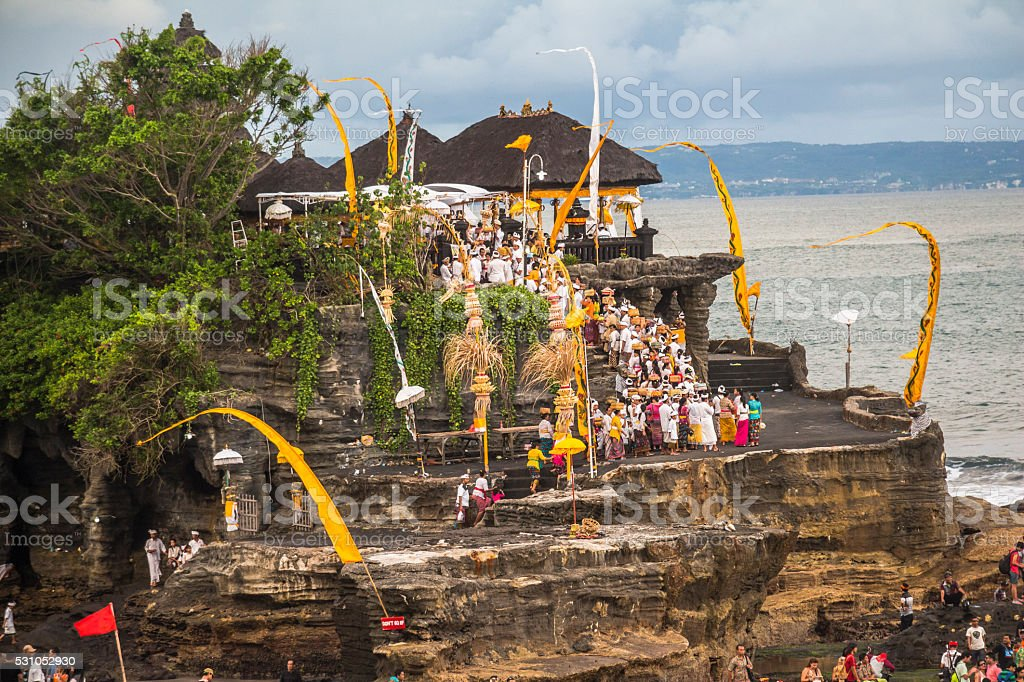 View on Tanah Lot temple, Bali stock photo
