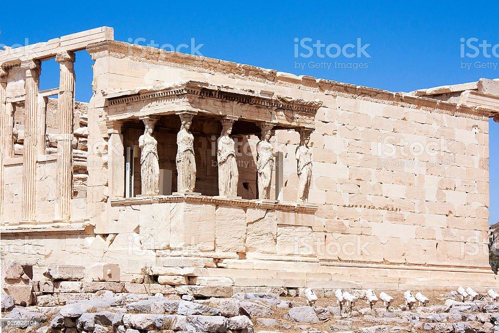 View on Temple of Athena Nike Athens in Acropolis, Greece. stock photo