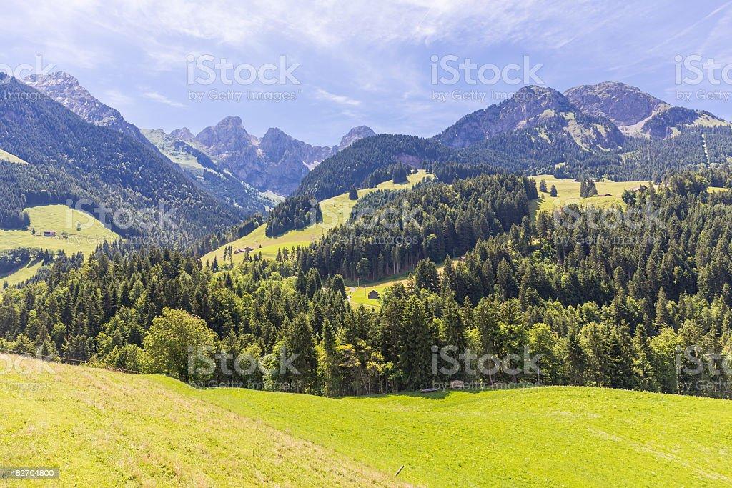 View on the Alps, Switzerland stock photo