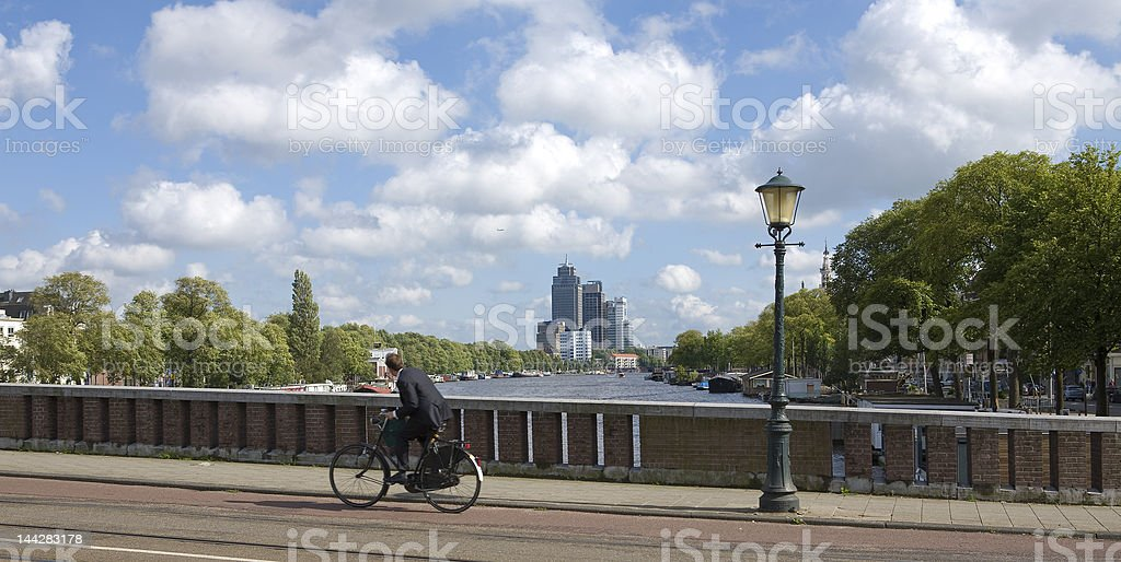 View on the Amstel river stock photo