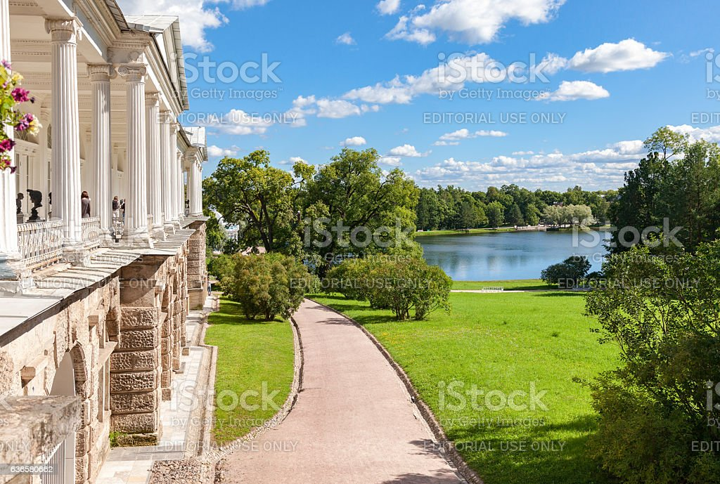 View on the Cameron gallery and Big lake stock photo