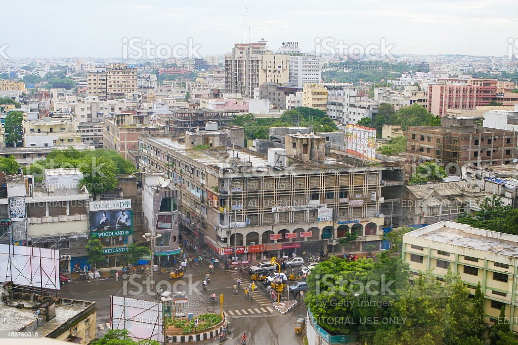 View on the center of Hyderabad, India stock photo