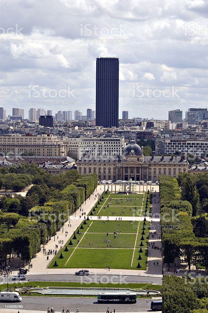 View on the 'Champs de mars'. France royalty-free stock photo