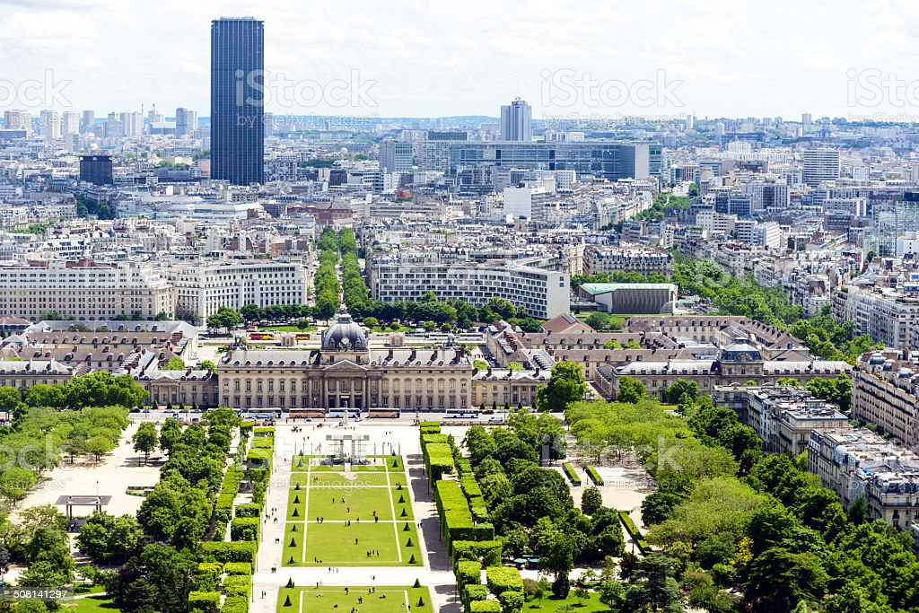 View on the Champs de Mars royalty-free stock photo