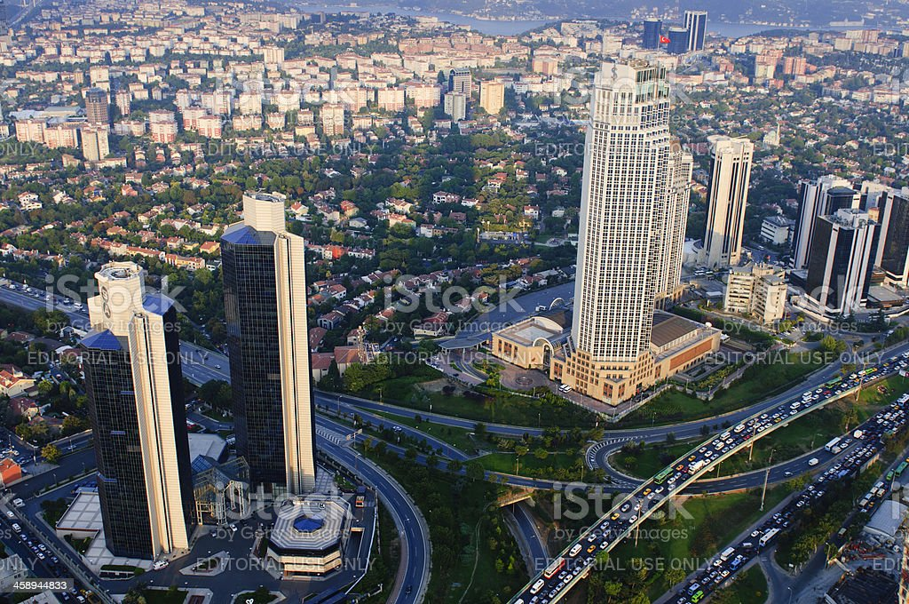 View on the city downtown and skyscrapers from Istanbul Sapphire royalty-free stock photo