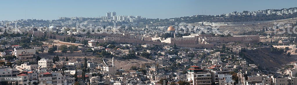 View on the city of Ramla . Israel stock photo