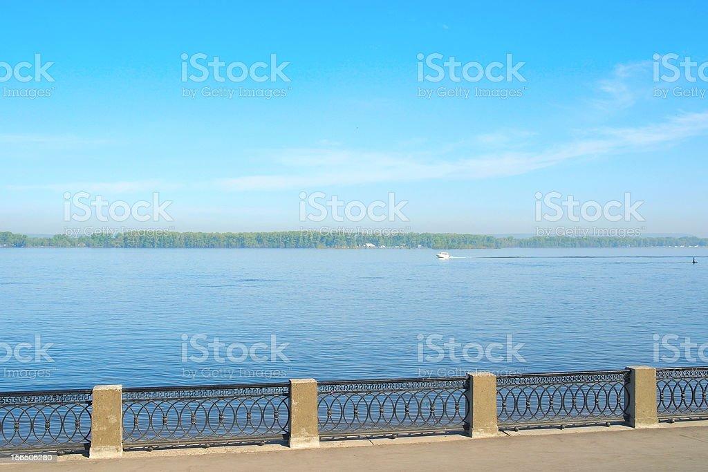 View on the coast of river Volga royalty-free stock photo