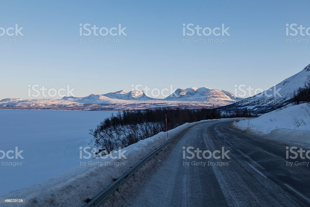 View on the gate to Abisko royalty-free stock photo