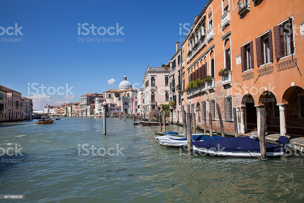 View on the Grand Canal, Venice Italy stock photo