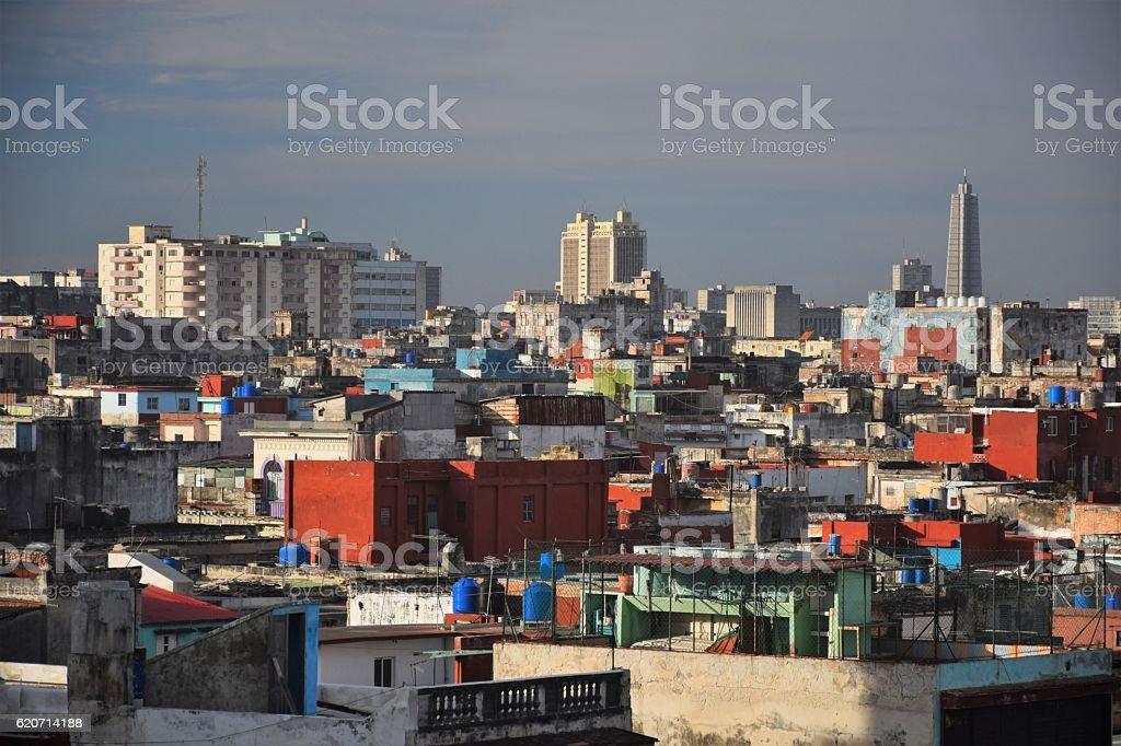 View on the Hawana city stock photo