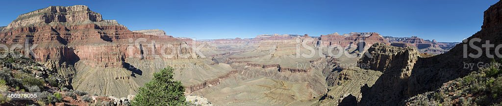 View on the Hermit Trail in Grand Canyon royalty-free stock photo