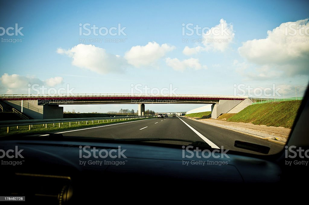 view on the highway royalty-free stock photo