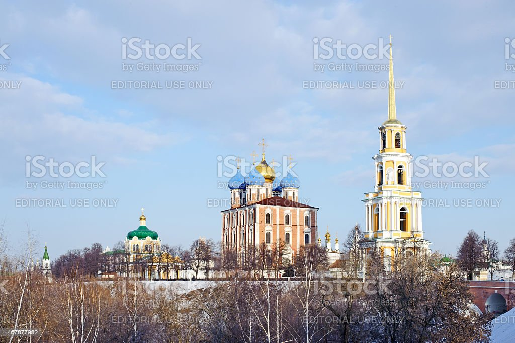 View on The Kremlin of Ryazan stock photo
