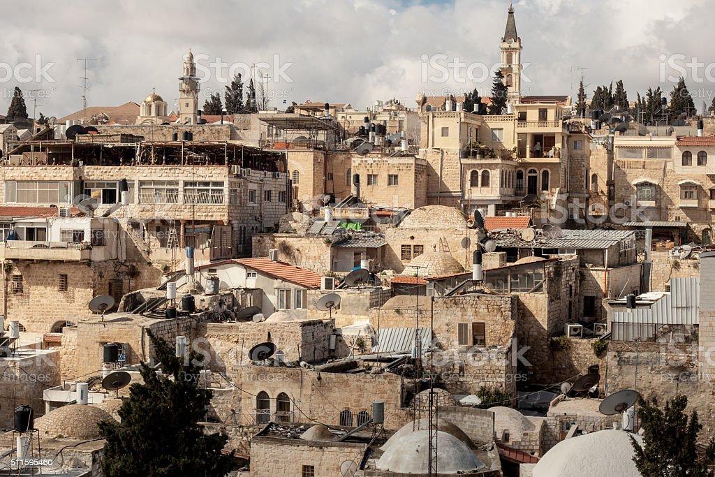 View on the landmarks of Jerusalem stock photo