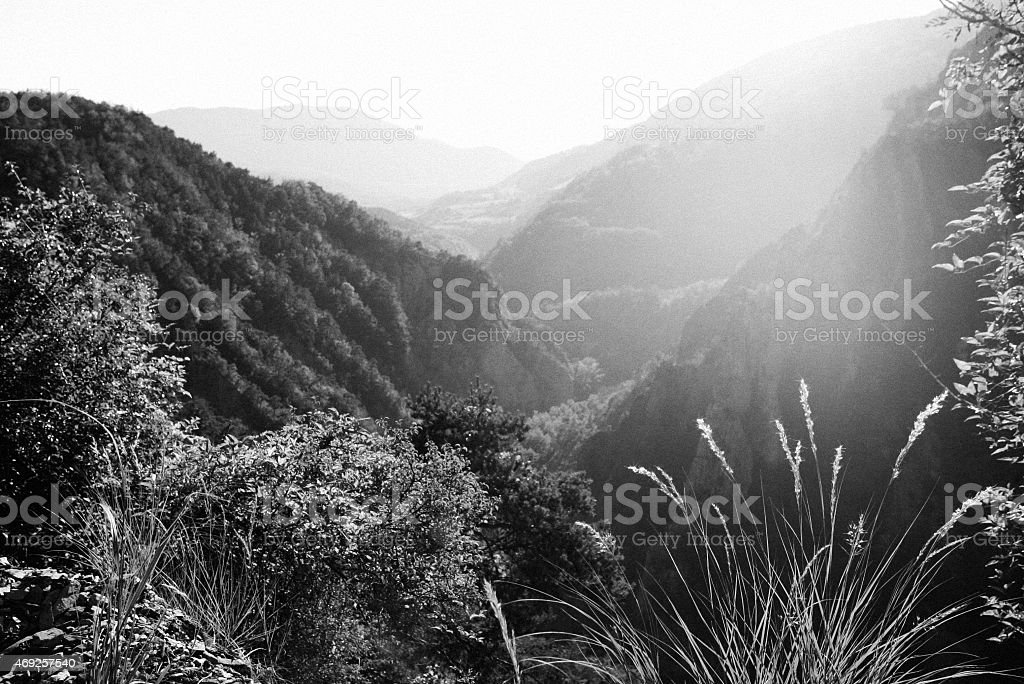 View on the mountains in the France royalty-free stock photo
