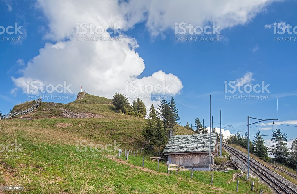 View on the Mt. Rigi stock photo