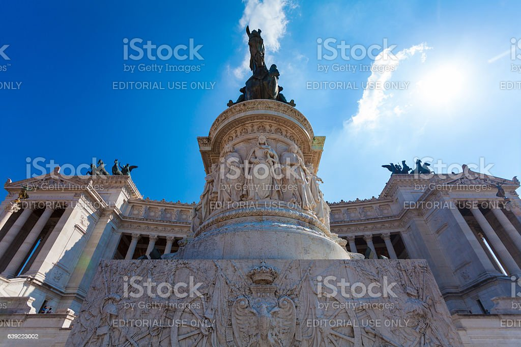 View on the National Monument to Victor Emmanuel II stock photo