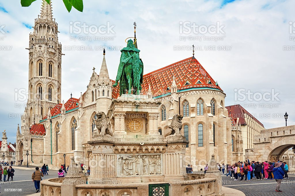 View on the Old Fisherman Bastion in Budapest. stock photo