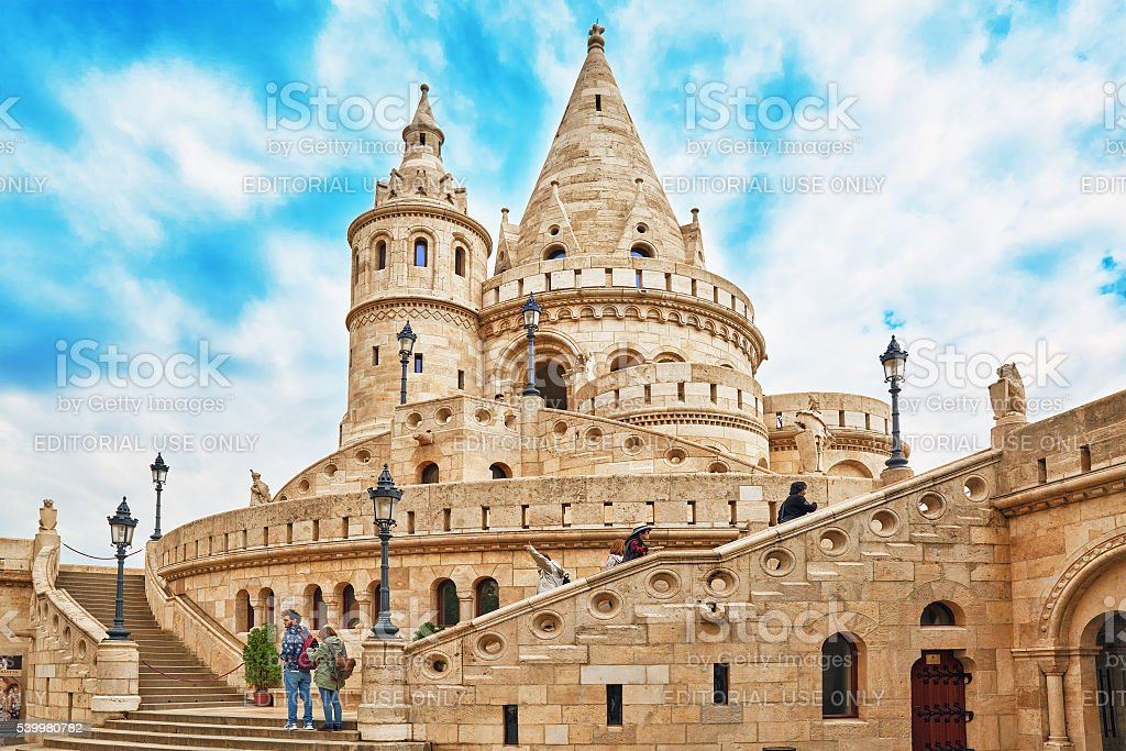 View on the Old Fishermen Bastion. stock photo