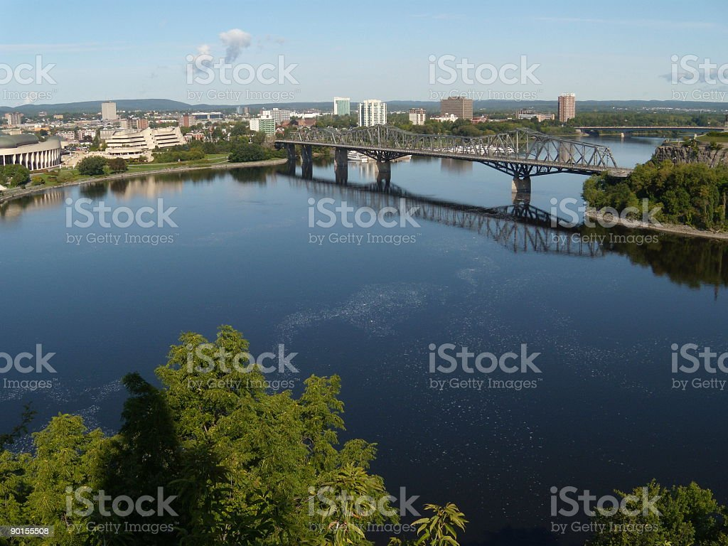 View on the Ottawa River royalty-free stock photo