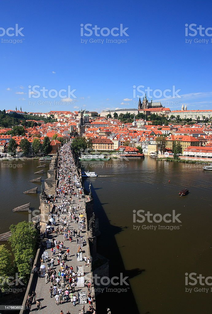View on the Prague castle royalty-free stock photo