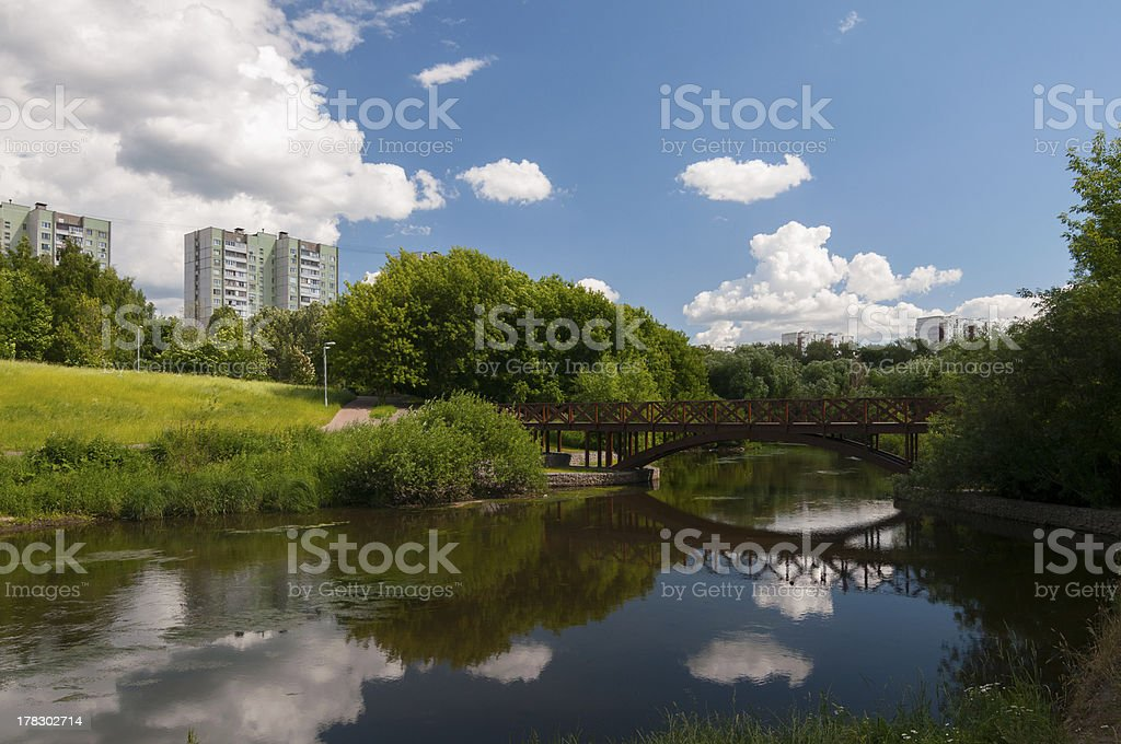 View on the river royalty-free stock photo