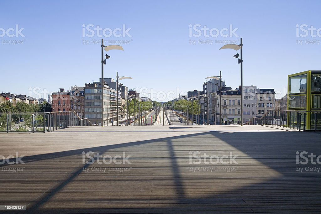 View on the south part of Antwerp stock photo
