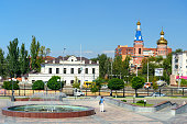 View on the street in Astrakhan
